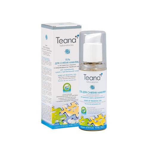 Teana Гель для снятия макияжа для нормальной, чувствительной и сухой кожи с экстрактом персика 125 мл (Пятое чувство)