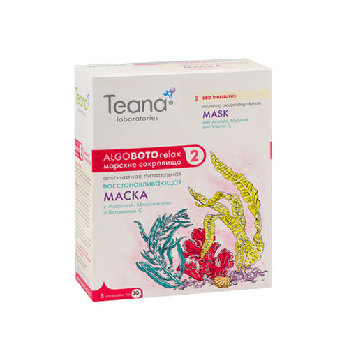 Teana Альгинатная Восстанавливающая маска Морские сокровища 30х5 гр (Teana, AlgoBotoRelax)