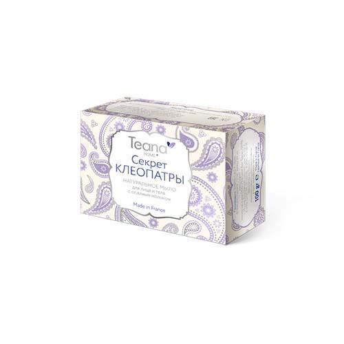 Teana Секрет Клеопатры Натуральное мыло для сухой и чувствительной кожи лица и тела с ослиным молоком 100 (Teana, Натуральное мыло ручной работы)