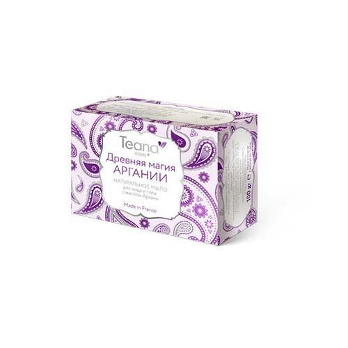 Teana Древняя магия аргании Натуральное мыло для сухой и чувствительной кожи лица и тела 100 гр (Teana, Натуральное мыло ручной работы)
