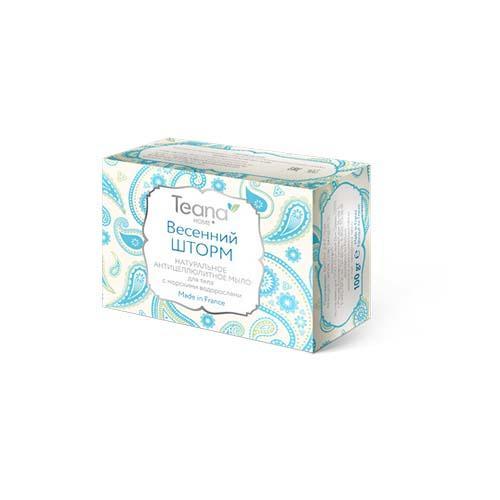 Весенний шторм Натуральное антицеллюлитное мыло для тела с морскими водорослями, 100 гр (Натуральное мыло ручной работы) (Teana)