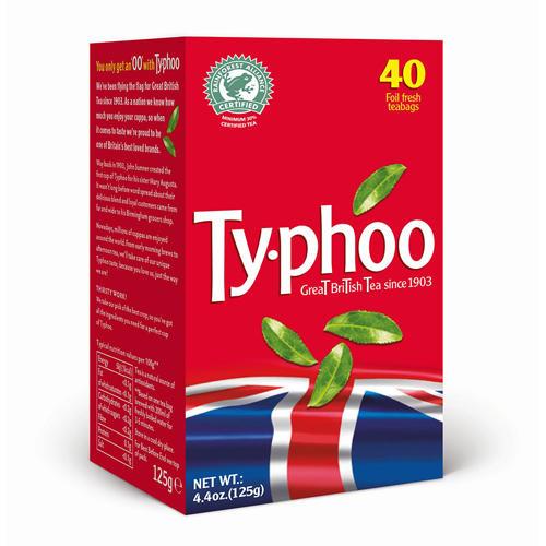 Typhoo Чай черный английский 40 пак 125г (Black tea)