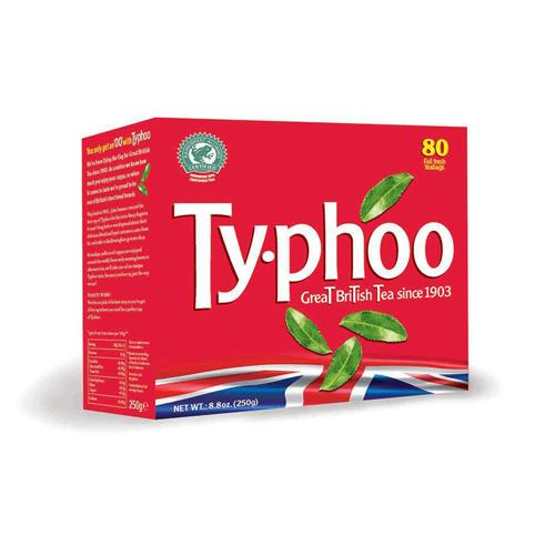 Typhoo Чай черный британский купаж 80 пак 250г (Black tea)