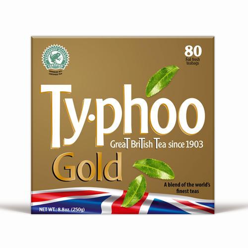 Typhoo Чай черный Золотой 80 пак 250г (Black tea)