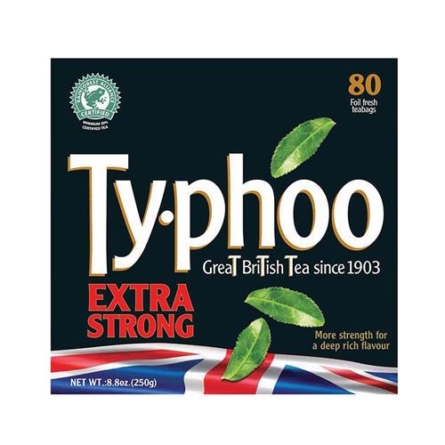 Typhoo Чай черный сильной заварки 80 пак 250г (Black tea)