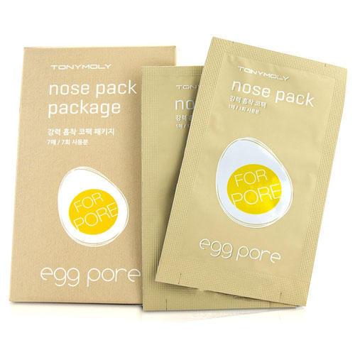 Полоски с яичным экстрактом для очищения кожи носа от черных точек 7 шт (Egg Pore) (Tony Moly)