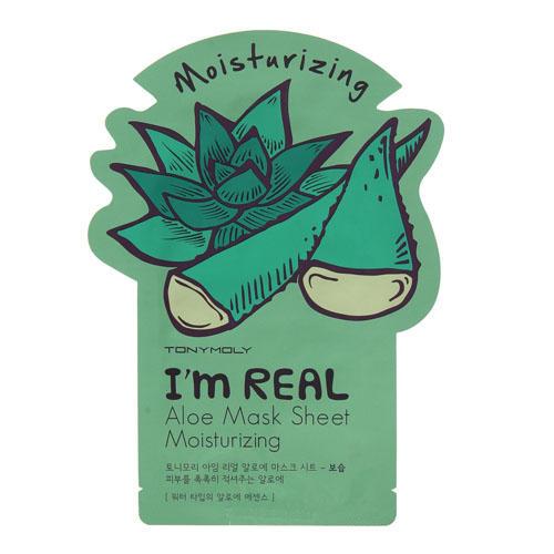 Одноразовая увлажняющая маска с экстрактом алоэ 21 мл (I am real)