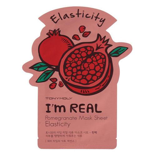Одноразовая маска для лица с экстрактом граната 21 мл (Tony Moly, I am real) tony moly набор тканевых масок сужающая поры i am real красное вино 3шт 21 мл