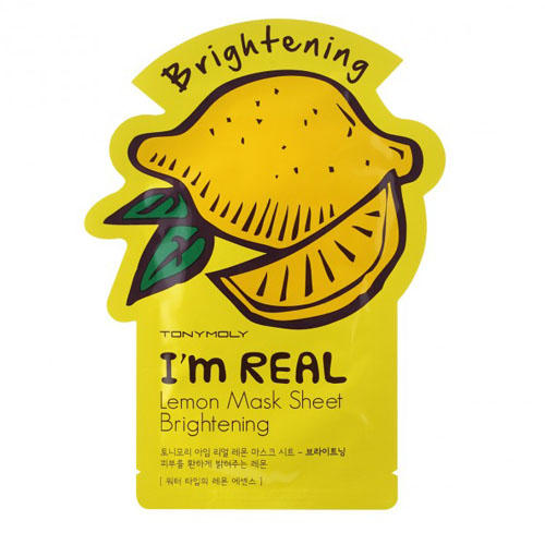 Tony Moly Одноразовая осветляющая маска для лица с экстрактом лимона 21 мл (I am real)