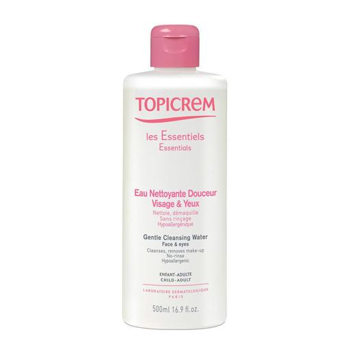 Topicrem Мягкая очищающая жидкость для лица и области вокруг глаз 500  мл (Essentials)