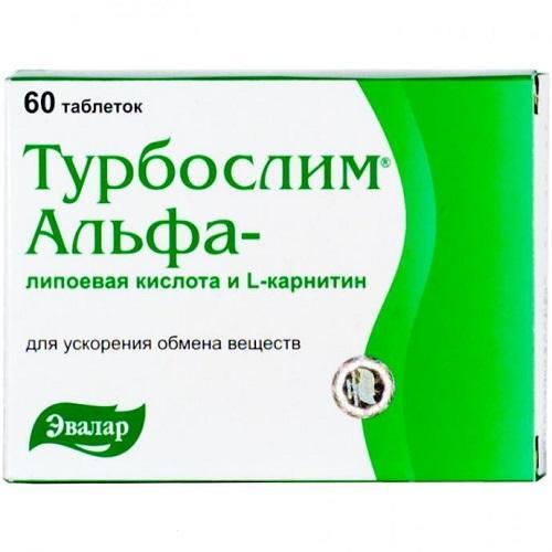 Турбослим Турбослим Альфа-липоевая кислота и L-карнитин №60 (Турбослим, БАД)