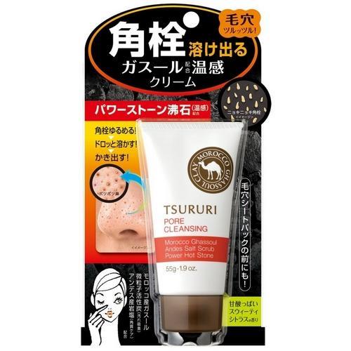 Купить Tsururi Термо-гель против черных точек разогревающий c марокканской вулканической глиной 55 г (Tsururi, Special care), Япония