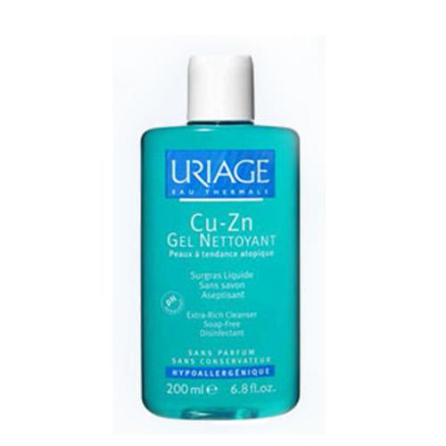 CuZn гель. Жидкий пенящийся гель без мыла (Uriage, Асептический уход CuZn)