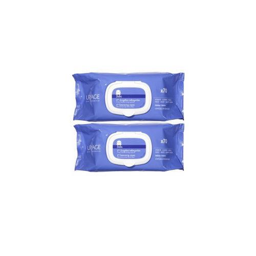 Uriage Набор Первые очищающие салфетки 70шт*2 (Uriage, Детская гамма)