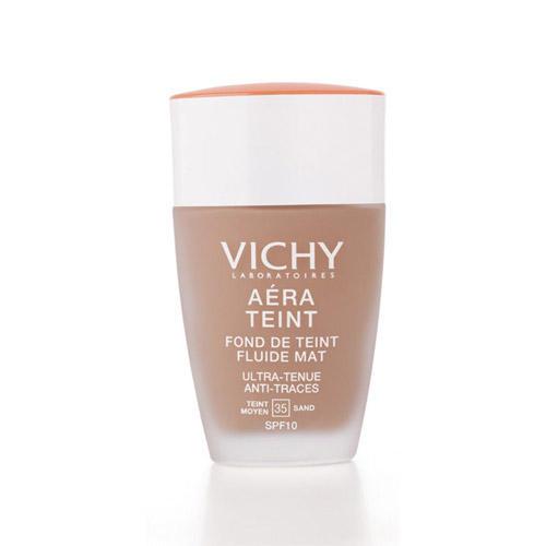 Крем тональный для нормальной и смешанной кожи Аэро Тон Флюид Мат SPF 10, тон 35 песочный (Vichy, Aera Teint) тональный крем vichy aera teint pure