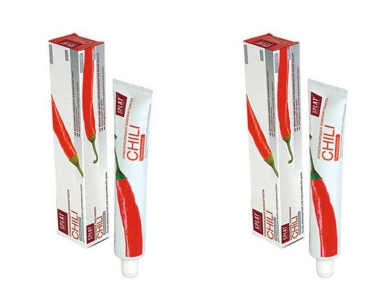 Splat Набор Splat Специальная отбеливающая зубная паста Чили 75 мл*2 штуки (Splat, Special) splat набор splat гипоаллергенная зубная паста зеро баланс 75 мл 2 штуки splat special