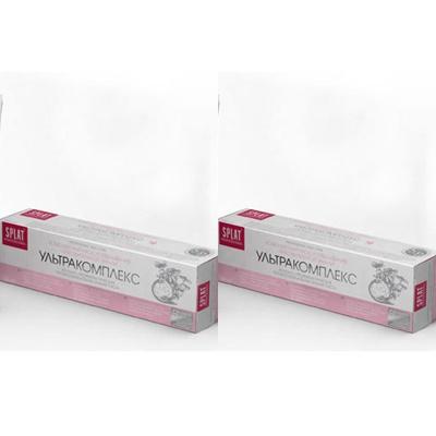 Splat Набор Лечебно-профилактическая профессиональная зубная паста Ультракомплекс 100 мл*2 штуки (Splat, Professional) splat набор splat лечебно профилактическая пенка для полости рта с кальцием 50 мл 2 штуки splat junior