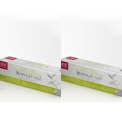 Splat Набор Лечебно-профилактическая профессиональная зубная паста Зеленый чай 100 мл*2 штуки (Splat, Professional) splat набор splat лечебно профилактическая пенка для полости рта с кальцием 50 мл 2 штуки splat junior