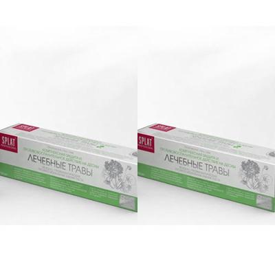 Splat Набор Лечебно-профилактическая профессиональная зубная паста Лечебные травы 100 мл*2 штуки (Splat, Professional)