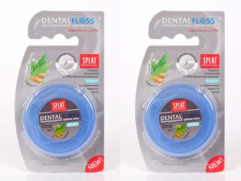 Купить Splat Набор Splat Объемная вощеная зубная нить Кардамон*2 штуки (Splat, Зубная нить), Россия
