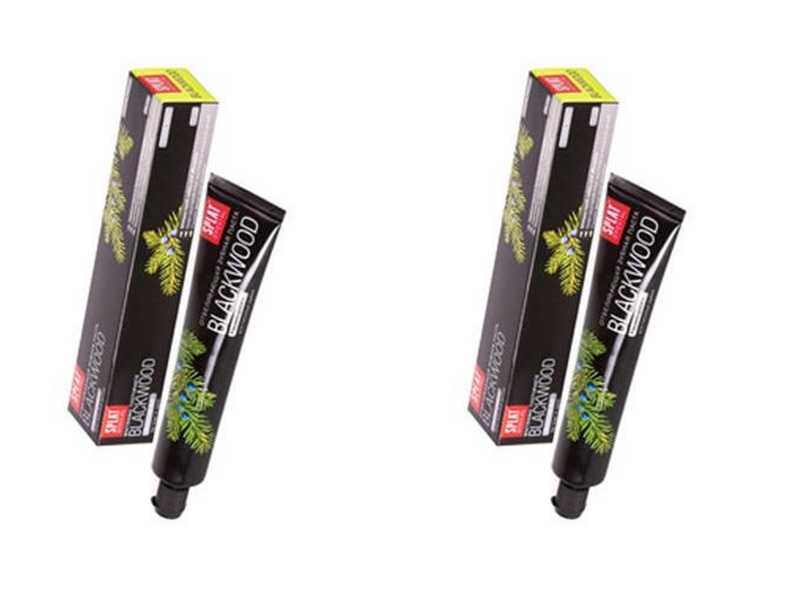 Splat Набор Специальная отбеливающая зубная паста Черное дерево 75 мл*2 штуки (Splat, Special) splat набор splat гипоаллергенная зубная паста зеро баланс 75 мл 2 штуки splat special