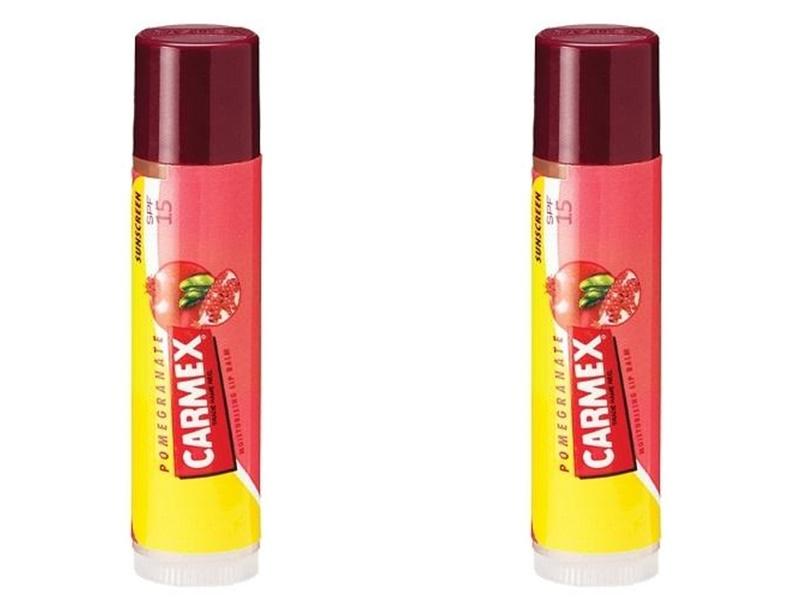 Купить Carmex Набор Бальзам для губ с ароматом граната с защитой SPF15 4, 25 гр*2 штуки (Carmex, Lip Balm), США