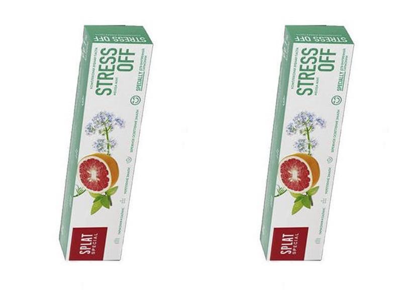 Купить Splat Набор Зубная паста Антистресс 75 мл*2 штуки (Splat), Россия