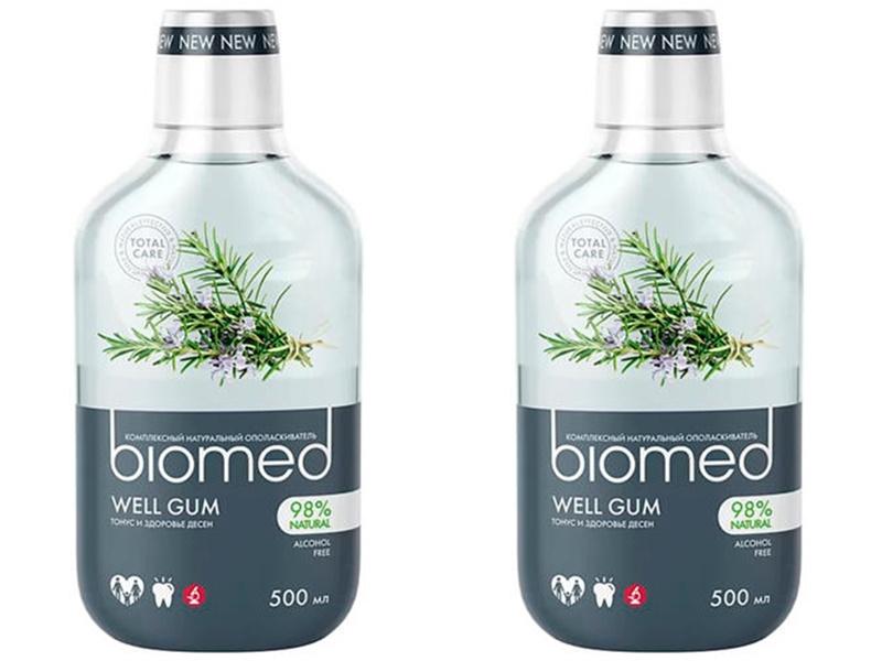 Купить Splat Набор Ополаскиватель для полости рта Well Gum, 500 мл*2 штуки (Splat, Biomed), Россия