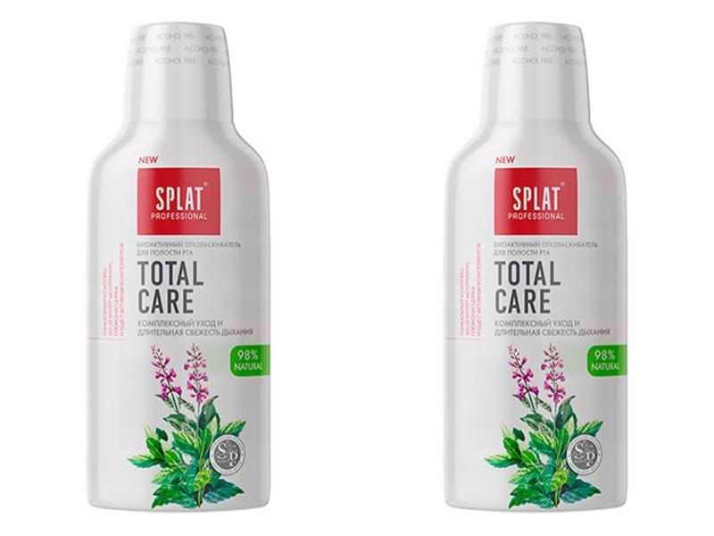Splat Набор Ополаскиватель для полости рта Mouthwash Total care, 275мл*2 штуки (Splat, Ополаскиватели и пенки)