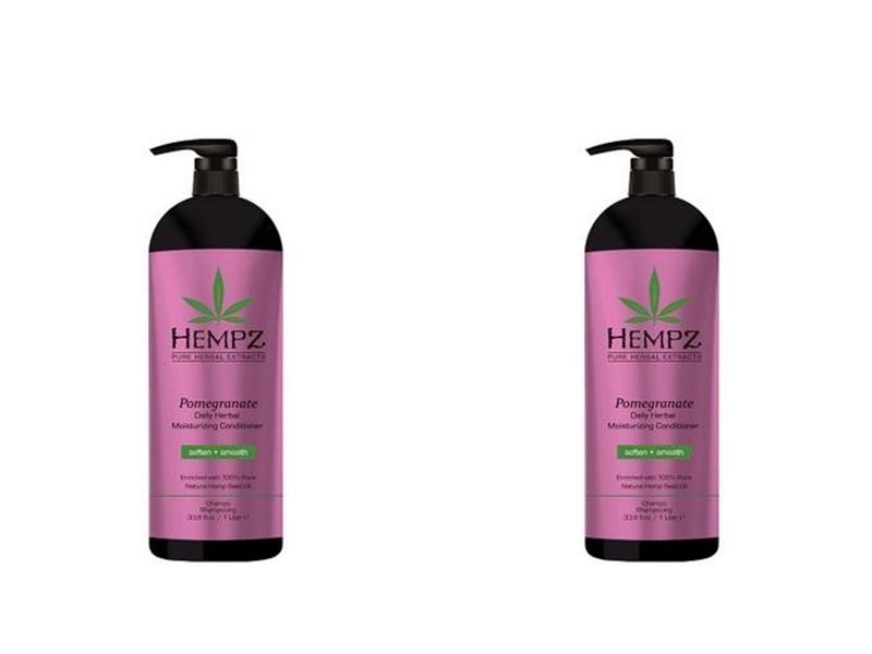 Hempz Набор Кондиционер растительный увлажняющий и разглаживающий 1000 мл*2 штуки (Hempz, Гранат)