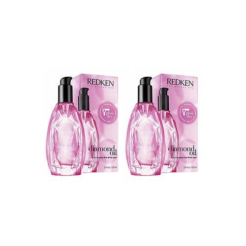 Redken Комплект Diamond Oil Glow Dry Термозащитное масло для сияния волос 2 шт х 100 мл (Redken, Уход за волосами)