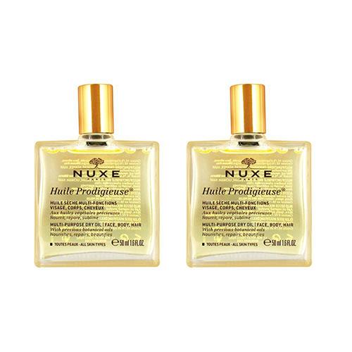 Nuxe Комплект Продижьёз Сухое масло для лица, тела и волос Новая формула 2 шт х 50 мл (Nuxe, Prodigieuse) nuxe prodigieuse крем для лица