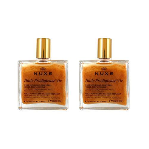 Nuxe Комплект Продижьёз Золотое масло для лица, тела и волос Новая формула 2 шт х 50 мл (Nuxe, Prodigieuse)