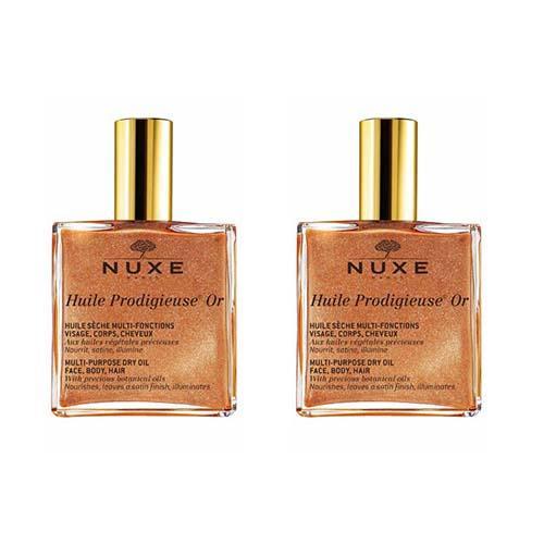 Nuxe Комплект Продижьёз Золотое масло для лица, тела и волос Новая формула 2 шт х 100 мл (Nuxe, Prodigieuse)