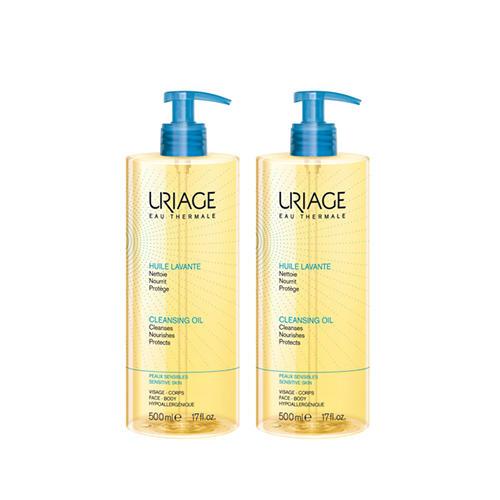 Uriage Комплект Очищающее пенящееся масло 2 шт х 500 мл (Uriage, Гигиена Uriage) урьяж мицеллярная вода очищающая для кожи склонной к покраснению 250 мл uriage гигиена uriage