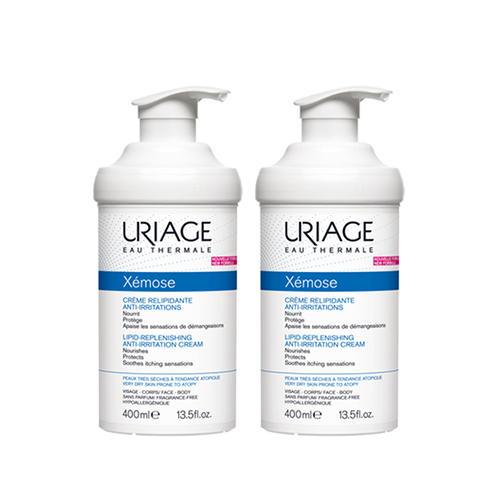 Купить Uriage Комплект Ксемоз Крем липидовосстанавливающий, против раздражений 2 шт х 400 мл (Uriage, Xemose), Франция