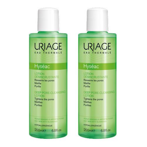 Uriage Комплект Исеак Лосьон для глубокого очищения пор 2 шт х 200 мл (Uriage, Hyseac)
