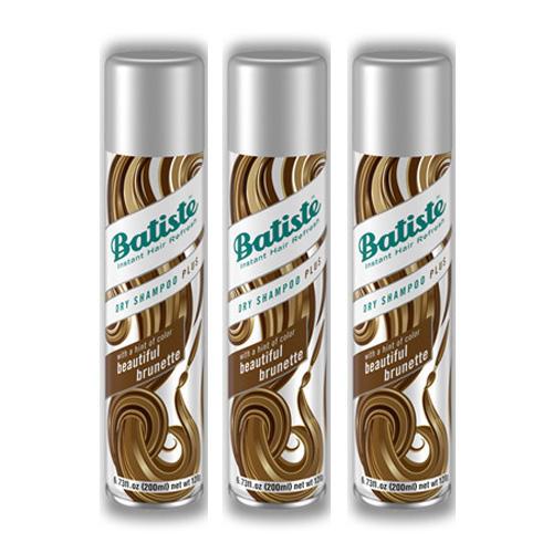 Batiste Комплект Medium Beautiful Brunette Сухой шампунь 3 шт х 200 мл (Batiste, Dry Shampoo Plus)