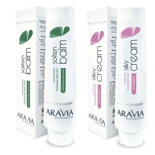 Купить Aravia professional Комплект Смягчающий бальзам для ног с эфирными маслами Soft Balm , 100 мл + (Aravia professional, SPA педикюр), Россия