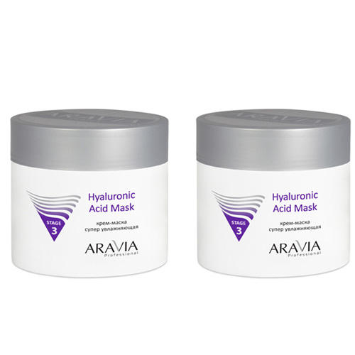 Купить Aravia professional Комплект Крем-маска супер увлажняющая Hyaluronic Acid Mask 2 шт х 300 мл (Aravia professional, Уход за лицом), Россия