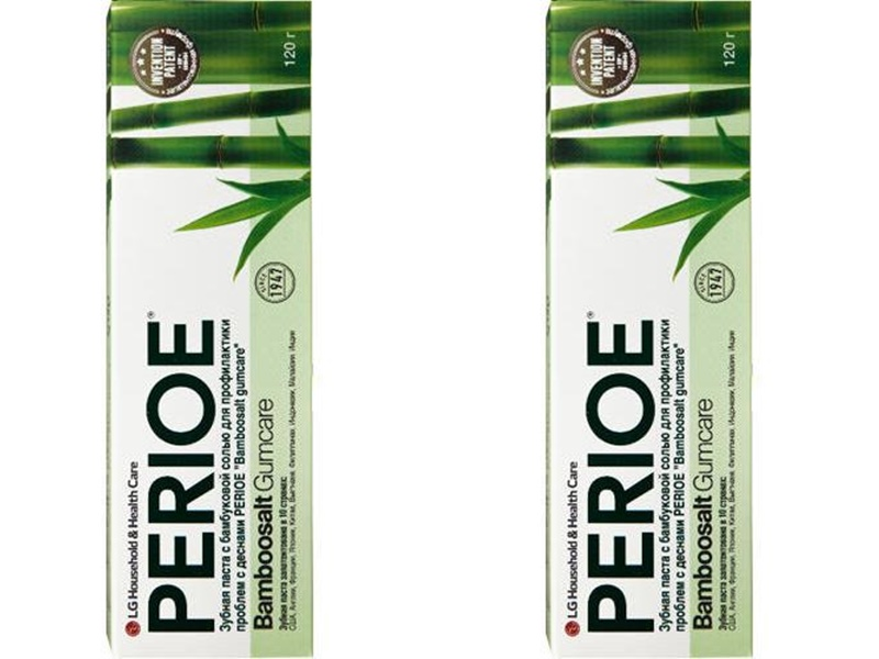 Perioe Набор Зубная паста с бамбуковой солью bamboosalt gumcare для профилактики проблем с деснами 120 гр*2 штуки (Perioe, Зубные пасты) perioe зубная паста комплексного действия total 7 original 120 гр perioe зубные пасты