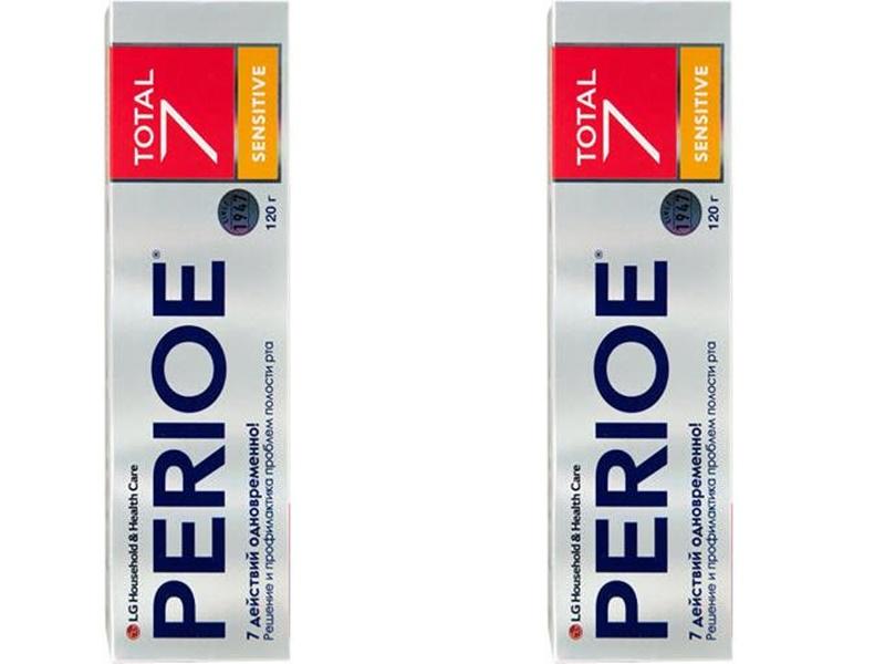 Купить Perioe Набор Зубная паста комплексного действия Total 7 sensitive 120 гр*2 штуки (Perioe, Зубные пасты), Южная Корея