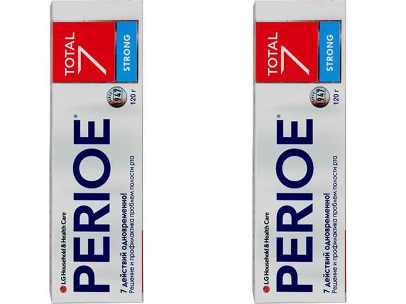 Perioe Набор Зубная паста комплексного действия Total 7 strong 120 гр*2 штуки (Perioe, Зубные пасты) perioe зубная паста комплексного действия total 7 original 120 гр perioe зубные пасты