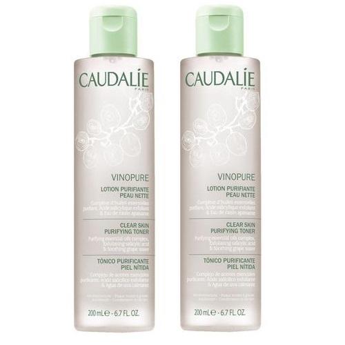 Caudalie Набор Тоник для лица Vinopure очищающий сужает поры комбинированной кожи, 200 мл*2 штуки (Caudalie, Vinopure)