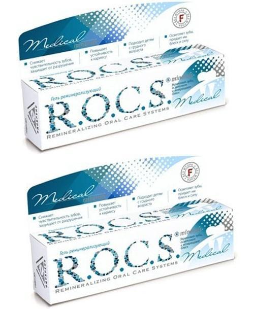 Купить R.O.C.S. Комплект R.O.C.S. Medical Minerals Гель реминерализирующий 2 штуки (R.O.C.S., R.O.C.S. Medical), Россия