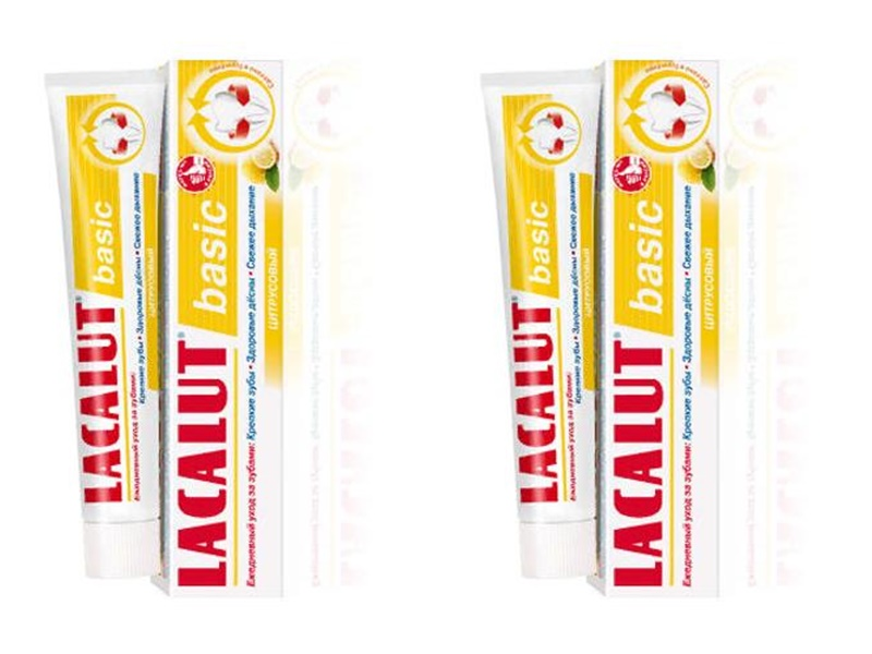 Lacalut Набор Зубная паста Бейсик цитрус*2 штуки (Lacalut, Зубные пасты)