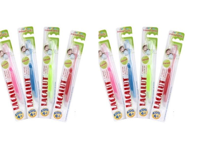 Lacalut Набор Зубная щетка Кидс 4+ лет*2 штуки (Lacalut, Зубные щётки)