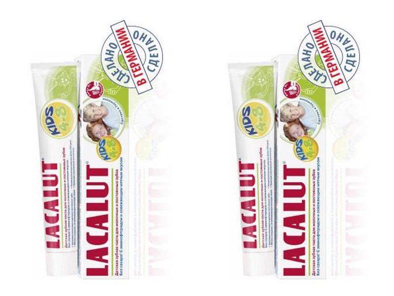 Lacalut Набор Зубная паста Кидс 4-8 лет 50 мл*2 штуки (Lacalut, Зубные пасты) фото