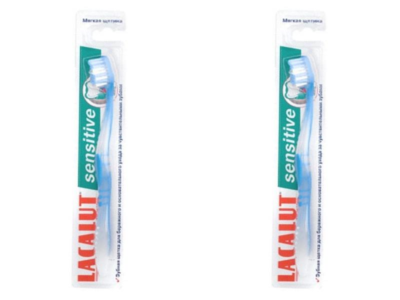 Lacalut Набор Зубная щетка Сенситив мягкая щетина*2 штуки (Lacalut, Зубные щётки) lacalut activ зубная щетка
