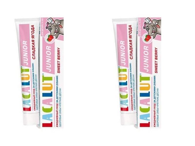 Lacalut Набор Зубная Паста Джуниор Сладкая ягода 8+, 75 мл*2 штуки (Lacalut, Зубные пасты) фото